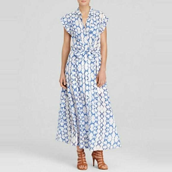 Rebecca Taylor Dresses | Silk Tie Dye Maxi Dress Size 8 | Poshmark